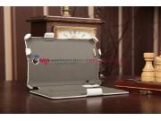 Фирменный чехол для Asus FonePad ME371MG с мульти-подставкой и держателем для руки белый кожаный