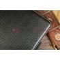 """Фирменный чехол открытого типа без рамки вокруг экрана для Asus FonePad ME371MG model K004 черный натуральная кожа """"Deluxe"""" Италия"""