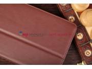 Чехол-обложка для Asus FonePad ME371MG с визитницей и держателем для руки коричневый кожаный
