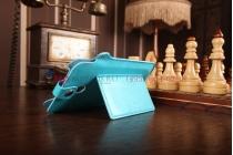 Фирменный чехол-футляр для Asus Fonepad Note FHD 6 ME560CG model K00G бирюзовый кожаный