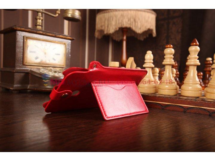 Фирменный чехол-футляр для Asus Fonepad Note FHD 6 ME560CG model K00G красный кожаный..