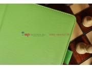 Чехол для Asus MeMO Pad FHD 10 ME302C/ME302CL с визитницей и держателем для руки зеленый натуральная кожа