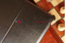 """Чехол для Asus MeMO Pad FHD 10 ME302C/ME302CL с мульти-подставкой и держателем для руки черный кожаный """"Deluxe"""" Италия"""
