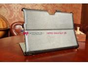 Чехол для Asus MeMO Pad FHD 10 ME302C/ME302CL с мульти-подставкой и держателем для руки черный кожаный