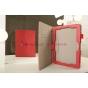 """Фирменный чехол-обложка для Asus MeMO Pad FHD 10 ME302KL LTE с визитницей и держателем для руки красный натуральная кожа """"Prestige"""" Италия"""