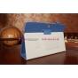 """Чехол-обложка для Asus MeMO Pad FHD 10 ME302C/ME302CL с визитницей и держателем для руки синий натуральная кожа """"Prestige"""" Италия"""