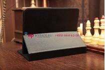 Чехол-обложка для Asus MeMo Pad HD 8 черный кожаный