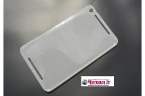 """Фирменная ультра-тонкая полимерная из мягкого качественного силикона задняя панель-чехол-накладка для Asus Memo Pad 8 FHD ME581CL K015 /K01H"""" белая"""