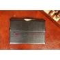 """Фирменный чехол открытого типа без рамки вокруг экрана для Asus MeMO Pad FHD 10 ME302KL LTE черный кожаный """"Deluxe"""" Италия"""