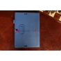 Фирменный чехол-обложка для Asus MeMO Pad FHD 10 ME302KL синий с визитницей и держателем для руки синий натура..