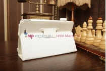 Чехол-обложка для Asus Memo Pad ME172V белый кожаный