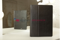 """Чехол-обложка для Asus MeMO Pad FHD 10 ME302C/ME302CL с визитницей и держателем для руки черный натуральная кожа """"Prestige"""" Италия"""