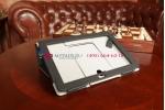 """Фирменный чехол-обложка для Asus PadFone 2 A68 с визитницей и держателем для руки черный кожаный """"Prestige"""" Италия"""