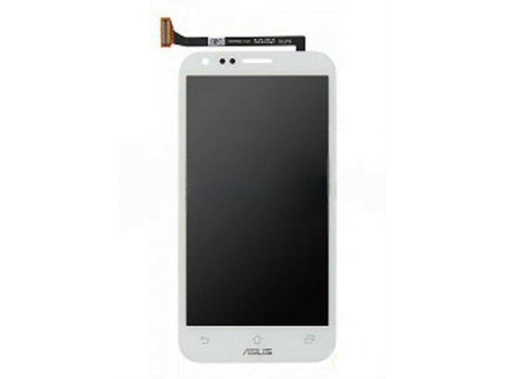 Фирменный LCD-ЖК-сенсорный дисплей-экран-стекло с тачскрином на телефон Asus Padfone 2 A68 белый и инструменты..