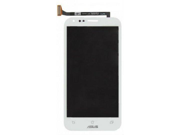 Фирменный LCD-ЖК-сенсорный дисплей-экран-стекло с тачскрином на телефон Asus PadFone Infinity A86 белый и инст..
