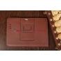 Чехол-обложка для Asus Padfone 3 Infinity A80 с визитницей и держателем для руки коричневый натуральная кожа