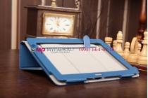 """Фирменный чехол-обложка для Asus Padfone 3 Infinity A80 с визитницей и держателем для руки синий кожаный """"Prestige"""" Италия"""