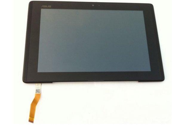 Фирменный LCD-ЖК-сенсорный дисплей-экран-стекло с тачскрином на планшета Asus Padfone 1 A66 черный и инструменты для вскрытия + гарантия