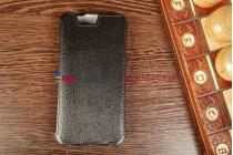 """Фирменный чехол-флип для телефона Asus Padfone 3 Infinity A80 черный натуральная кожа """"Prestige"""" Италия"""