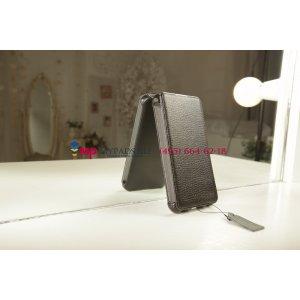 """Фирменный чехол-книжка для телефона Asus Padfone 3 Infinity A80 черный натуральная кожа """"Prestige"""" Италия"""