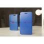 Фирменный чехол-книжка для телефона Asus Padfone 3 Infinity A80 синий натуральная кожа