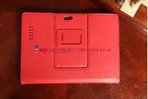 """Фирменный чехол-обложка для Asus Padfone 3 Infinity A80 с визитницей и держателем для руки красный натуральная кожа """"Prestige"""" Италия"""
