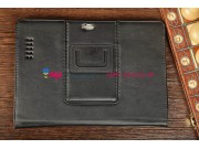 Фирменный чехол-обложка для Asus Padfone Infinity 4 new A86 T004 с визитницей и держателем для руки черный нат..
