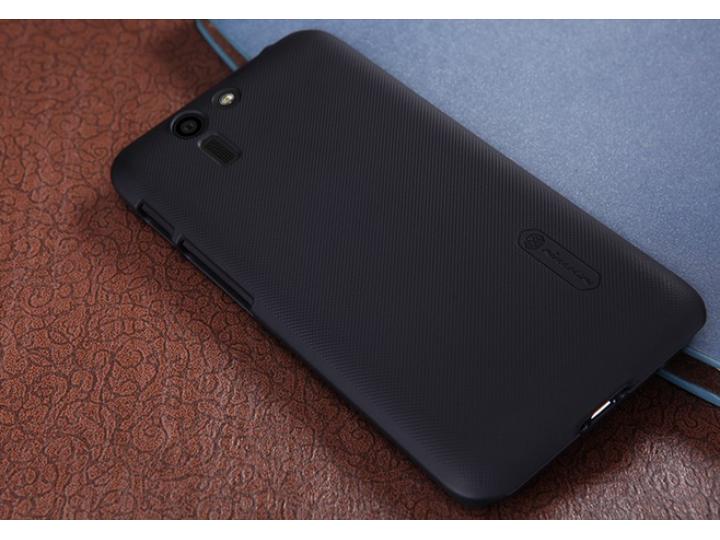 Фирменная задняя панель-крышка-накладка из тончайшего и прочного пластика для Asus Padfone S 5 PF500KL черная..