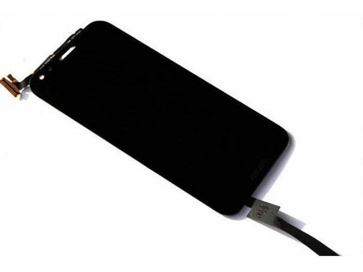 Фирменный LCD-ЖК-сенсорный дисплей-экран-стекло с тачскрином на телефон Asus Padfone S 5 PF500KL черный + гара..