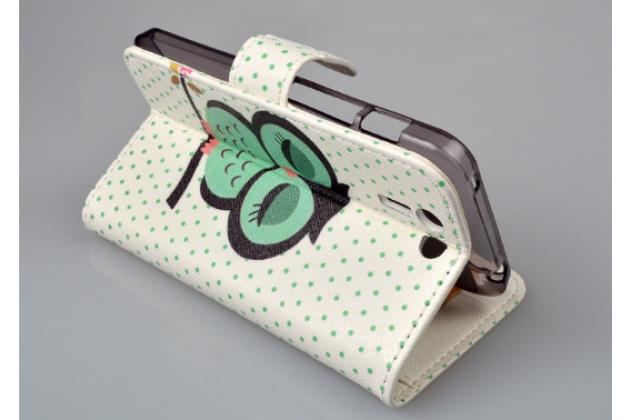 """Фирменный уникальный необычный чехол-книжка для Asus Padfone S 5 PF500KL """"тематика Сова"""""""