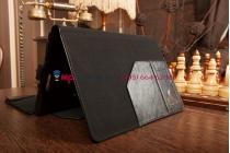 Фирменный чехол для Asus Transformer Book T100TA Dock model B06V с отделением под клавиатуру черный кожаный