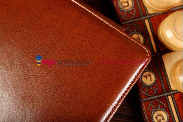Фирменный оригинальный чехол для Asus Transformer Book T100TA model B079 Dock Keyboard с док-станцией коричневый кожаный
