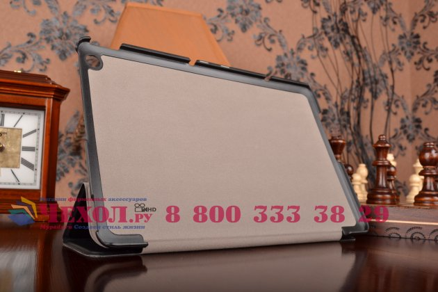 """Фирменный умный чехол самый тонкий в мире для планшета ASUS Transformer Book T100 Chi """"Il Sottile"""" черный кожаный"""