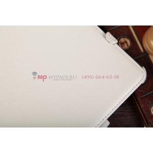"""Чехол для Asus VivoTab Smart ME400C/ME400CL с мульти-подставкой и держателем для руки белый кожаный """"Deluxe"""" Италия"""