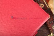 """Чехол для Asus VivoTab Smart ME400C/ME400CL с мульти-подставкой и держателем для руки красный кожаный """"Deluxe"""" Италия"""