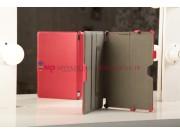 Чехол для Asus VivoTab Smart ME400C/ME400CL с мульти-подставкой и держателем для руки красный кожаный