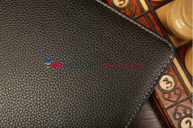Фирменный оригинальный чехол со съёмной Bluetooth-клавиатурой для Asus VivoTab Smart ME400C/ME400CL черный кожаный + гарантия