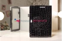 Фирменный чехол-обложка для Asus VivoTab Smart ME400C/ME400CL кожа крокодила черный