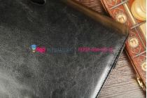 Фирменный чехол для Asus VivoTab TF810C/TF810CL черный с секцией под клавиатуру кожаный