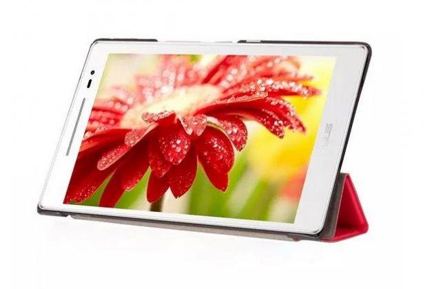 """Фирменный умный чехол самый тонкий в мире для планшета Asus ZenPad 8 дюймов Z380C/Z380KL """"Il Sottile"""" коричневый кожаный"""