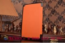 """Фирменный умный чехол-книжка самый тонкий в мире для Asus ZenPad 8 Z380C/Z380KL Z380KNL """"Il Sottile"""" оранжевый кожаный"""