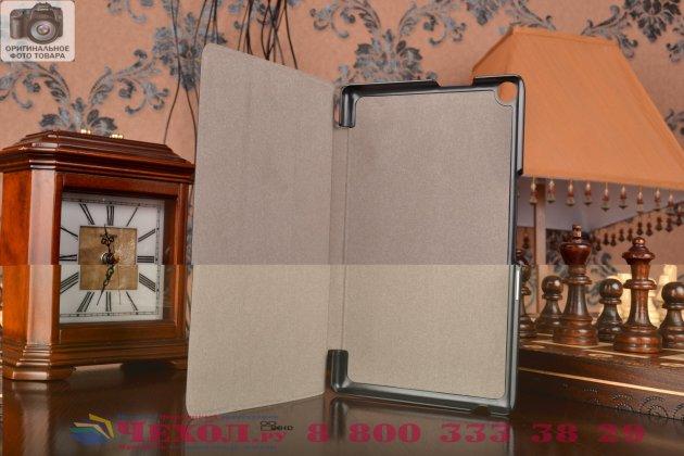 """Фирменный умный чехол самый тонкий в мире для планшета Asus ZenPad 8 Z380C/Z380KL """"Il Sottile"""" черный кожаный"""