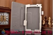 """Фирменный чехол бизнес класса для Asus ZenPad C 7.0 Z170C/Z170CG/Z170MG с визитницей и держателем для руки белый натуральная кожа """"Prestige"""" Италия"""