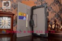 """Фирменный чехол обложка для Asus ZenPad C 7.0 Z170C/Z170CG/Z170MG с визитницей и держателем для руки черный натуральная кожа """"Prestige"""" Италия"""