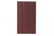 """Фирменный умный чехол самый тонкий в мире для планшета Asus ZenPad C 7.0 дюймов Z170C/Z170CG/Z170MG """"Il Sottile"""" коричневый кожаный"""