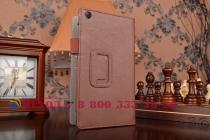 """Фирменный чехол бизнес класса для Asus ZenPad C 7.0 Z170C/Z170CG/Z170MG с визитницей и держателем для руки коричневый натуральная кожа """"Prestige"""" Италия"""