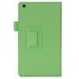 Фирменный чехол бизнес класса для Asus ZenPad C 7.0 Z170C/Z170CG/Z170MG с визитницей и держателем для руки зел..