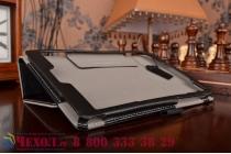 """Фирменный чехол обложка для Asus ZenPad S 8.0 Z580CA/Z580C с визитницей и держателем для руки черный натуральная кожа """"Prestige"""" Италия"""
