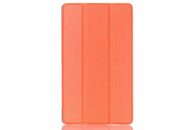 """Фирменный умный чехол самый тонкий в мире для Asus ZenPad Z10 ZT500KL"""" оранжевый пластиковый Италия"""