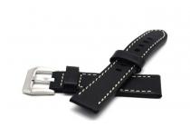 Фирменный сменный кожаный ремешок для умных смарт-часов ASUS ZenWatch 2 (WI502Q) 22mm из качественной импортной кожи